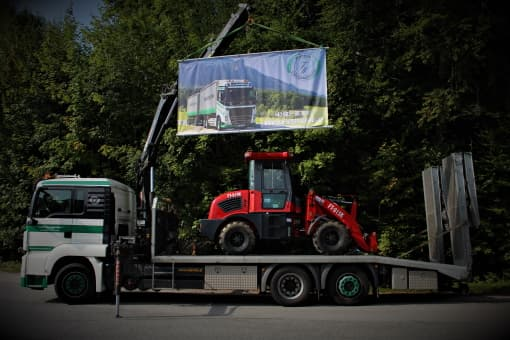 Transporte Webersdorfer Ladekran-Transport