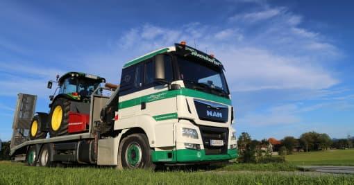 Baumaschinentransport Transporte Webersdorfer
