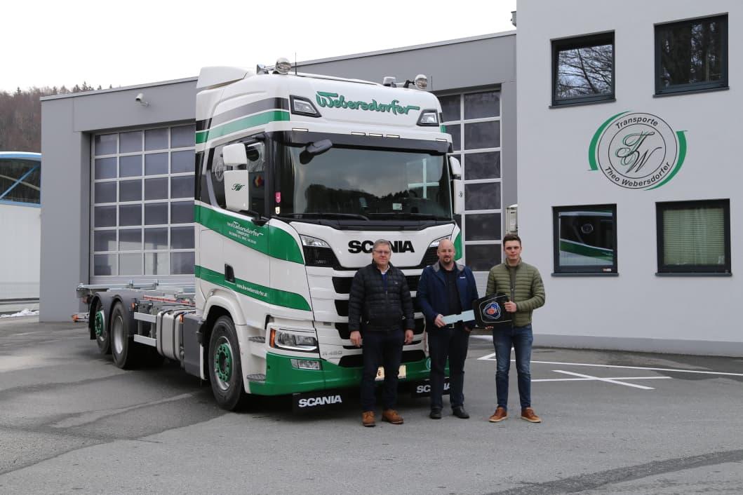 Erster SCANIA-LKW für Webersdorfer Transporte Salzburg-Bergheim